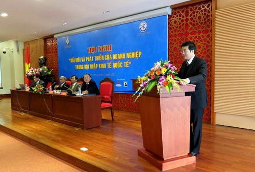 """Trường Đại học Y Dược Huế tham dự Hội nghị """"Đổi mới và phát triển của doanh nghiệp trong hội nhập kinh tế quốc tế"""""""